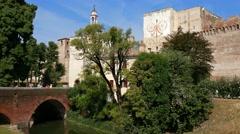 Cittadella - Porta Padova (gate) Stock Footage