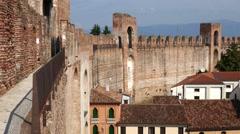Cittadella - Walkway along the fortified walls Stock Footage