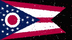 Celebratory animated flag of the great state of Ohio Stock Footage