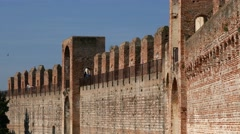 Cittadella - The fortified walls Stock Footage