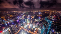 Timelapse and bird's view of landmark in Puxi and Pudong CBD,Shanghai, China Stock Footage