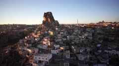Nevsehir Turkey slum drone Stock Footage