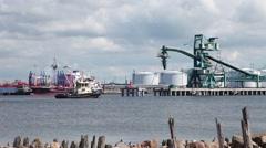 Work sea port Stock Footage