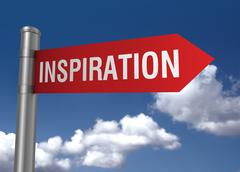 Inspiration road sign Stock Illustration