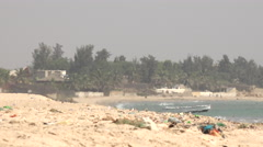 Heat vibrant air in the African beach - heatwave in Africa Stock Footage