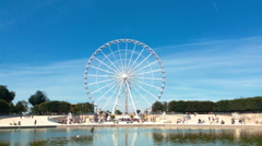 Ferris Wheel Of Paris Stock Footage