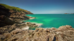 Summer gorgeous nature bay panorama 4k time lapse france Stock Footage
