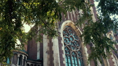 Roman Catholic Cathedral in Lviv Stock Footage