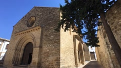 Romanesque church of Santa Cruz , Baeza, Jaen Province, Andalusia, Spain, Weste Stock Footage