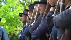 Civil War soldiers get final orders Stock Footage