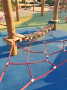 Set of net crawl constructions on kids playground Stock Illustration
