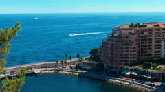 The Seafront Of Monaco Stock Footage
