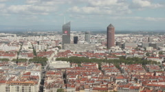 View Of The City From The Observation Deck. Stock Footage
