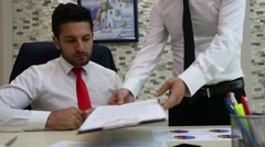 Business agreement signature Stock Footage