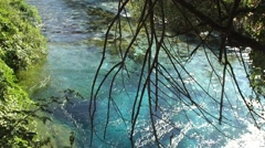 Beautiful mountain river in Albania among forests and greenery Stock Footage