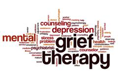 Grief therapy word cloud Stock Illustration