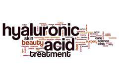 Hyaluronic acid word cloud Stock Illustration