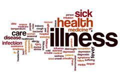 Illness word cloud Stock Illustration