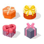 Isometric gift box vector icon isolated Stock Illustration