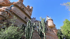 The Colomares castle Stock Footage