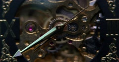 Watch mechanism close-up Stock Footage