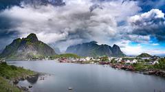 Storm cloud - Lofoten archipelago Stock Photos