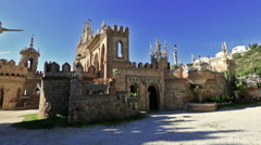 The castle of Colomares Stock Footage