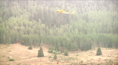 The Colorado National Guard fights the West Fork Complex Fire. Stock Footage