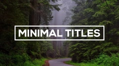 Minimal Titles - After Effects text animation template Kuvapankki erikoistehosteet