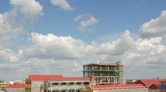 TIMELAPSE Construction of high building,Poipet,Cambodia Stock Footage