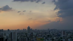 TIMELAPSE Skyline with sunset clouds,Bangkok,Thailand Stock Footage