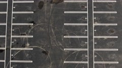 Aerial shot of empty parking lot Stock Footage