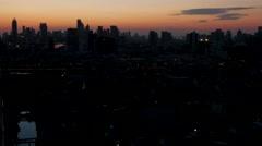 TIMELAPSE Skyline of new city at sunrise,Bangkok,Thailand Stock Footage