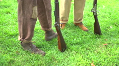 The feet and guns of Union soldiers Stock Footage