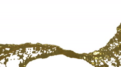 Gold splash of liquid in slow motion Stock Footage