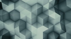 Dark grey polygons. Abstract background loopable 4k UHD (3840x2160) Stock Footage