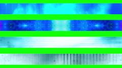 Lower third twenty four GBS Green Screen L3rds Stock Footage