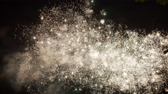 Fireworks Light up the Sky With Dazzling Display Stock Footage