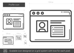 Profile line icon Stock Illustration