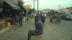 Dirty and poor african cityscape - Saint Louis downtown, Senegal Stock Footage