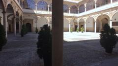 Renaissance cloister, Renaissance city, Baeza, Andalucia, Spain Stock Footage