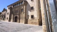 Palace Jabalquinto, Patrimony of the Humanity, Baeza, Spain Stock Footage