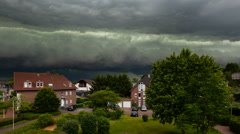 Approaching Thunderstorm Timelapse Stock Footage