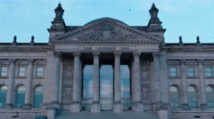 Medium shot of The German Parliament and the Deutche Bundestag in Berlin. Stock Footage