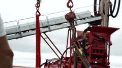 Structure to lift heavy objects with the crane. Stock Footage