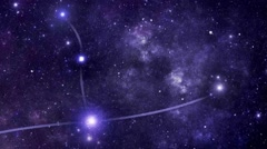 Constellation Andromeda (And) Stock Footage