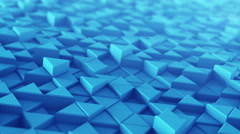 Blue extruded triangles techno animation 3D render loopable 4k UHD (3840x2160) Stock Footage