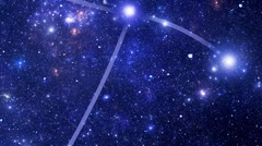 Constellation Corvus (Crv) Stock Footage