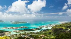 Seychelles Mahe Coastline Timelapse Stock Footage
