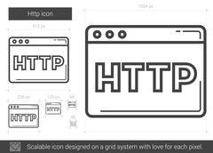 Http line icon Stock Illustration